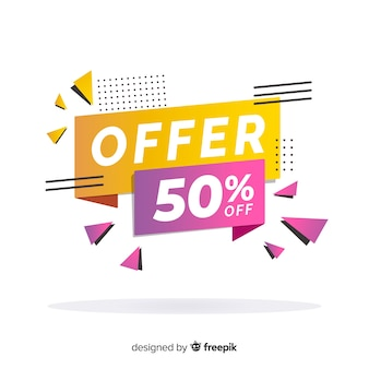 Abstract colorful sales banner template