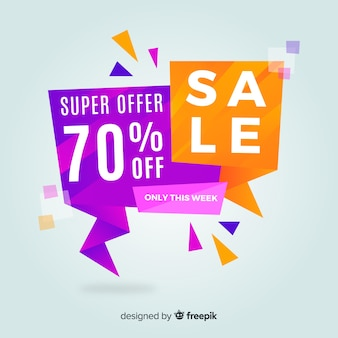 Abstract colorful sales banner