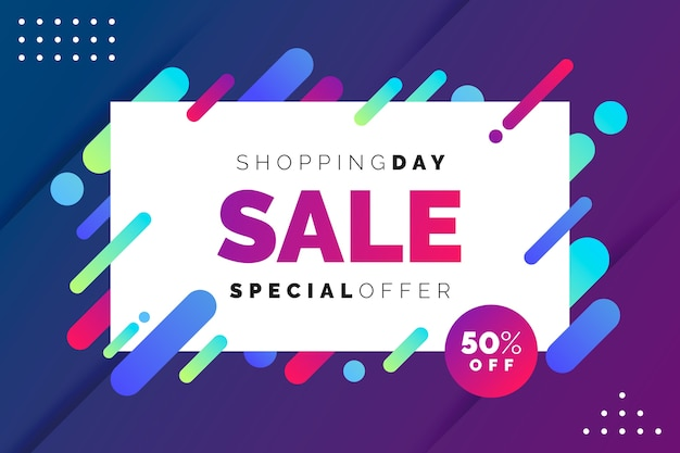 Abstract colorful sales wallpaper