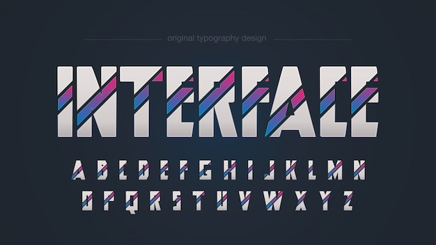 Abstract colorful sci fi typography design