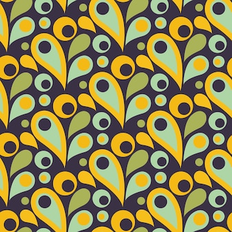 드롭, 둥근 형태와 추상 화려한 완벽 한 패턴입니다. 평면 디자인. 인쇄, 웹 장식 그림입니다. 벡터 일러스트 레이 션.