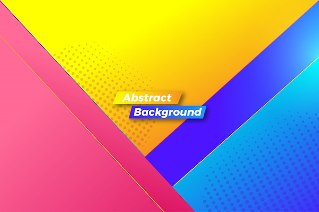Abstract colorful shapes background
