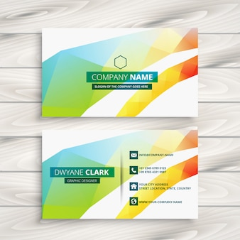 Abstract colorful shapes business card