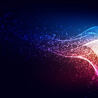 Abstract colorful shiny gliters wave background