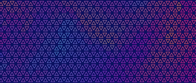Abstract colorful small triangle pattern banner design