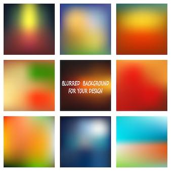 Абстрактные красочные гладкие размытые фоны
