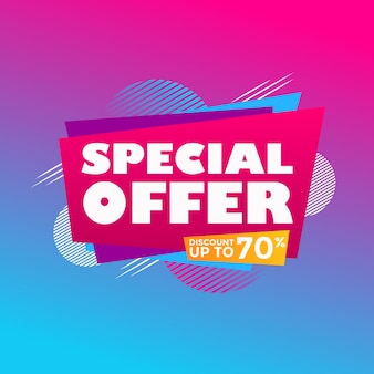 Abstract colorful special offer sale modern background