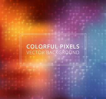 Abstract colorful square pixels background