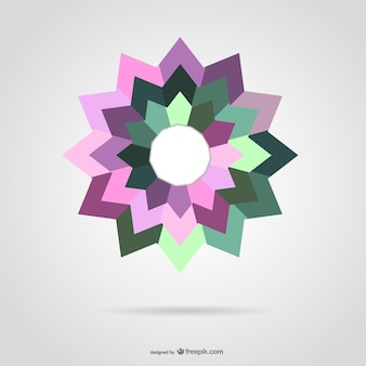 Abstract colorful star
