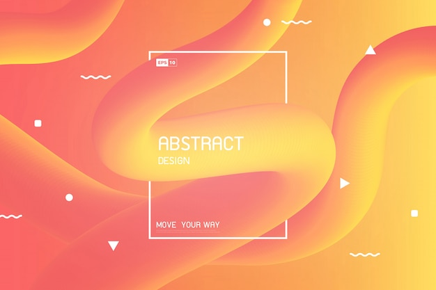 Abstract colorful stripe line of free shape design motion effect decoration
