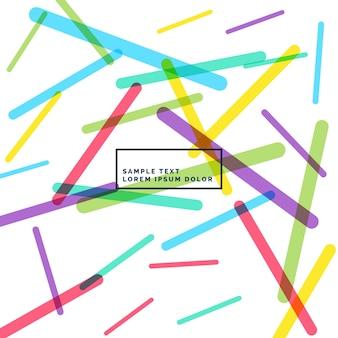 抽象的なカラフルな縞ベクトル背景