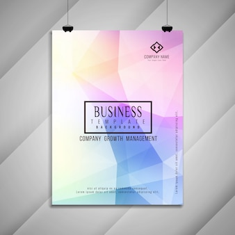Abstract colorful stylish business brochure template design