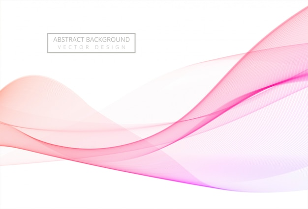 Abstract colorful stylish flowing wave background
