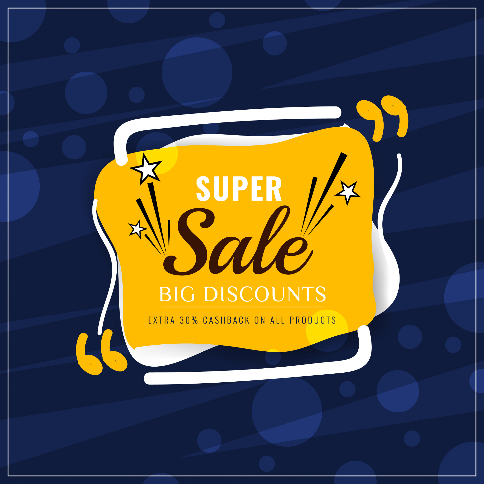 Abstract colorful super sale modern background