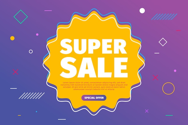 Abstract colorful super sales background