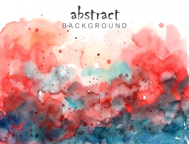Abstract colorful swatercolor background