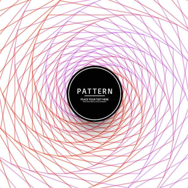 Abstract colorful swirl lines pattern design