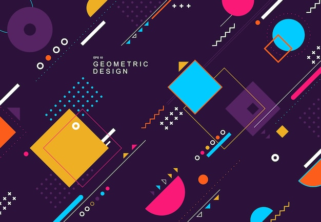 Abstract colorful tech geometric design element poster artwork background