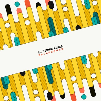 Abstract colorful tech stripe line of new cover design background.