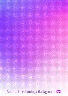 抽象的なカラフルなテクノロジーサークルピクセルデジタルグラデーション背景
