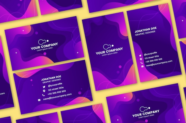 Abstract colorful templates for business card