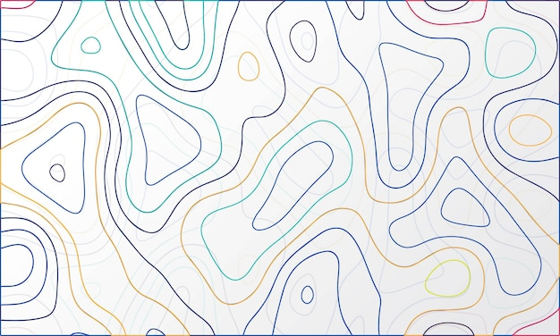 Abstract colorful topographic map design vector