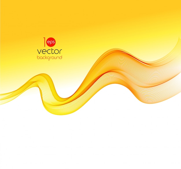 Abstract colorful transparent wave background