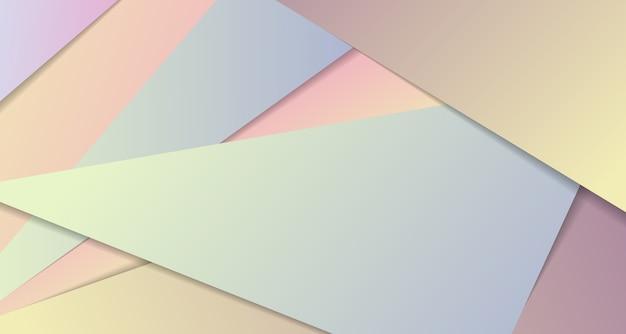 紙カットスタイルの背景の幾何学的な抽象的なカラフルな三角形