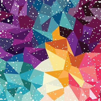 Abstract colorful triangle geometrical background