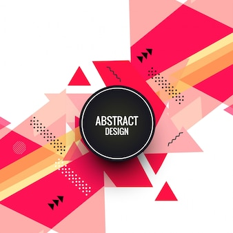 Abstract colorful triangular shape background