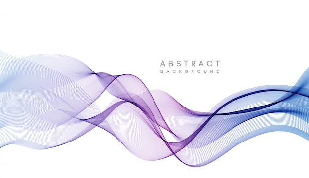 Abstract colorful vector background, color wave