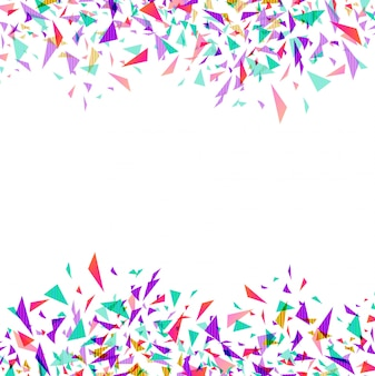Abstract colorful vector confetti isolated