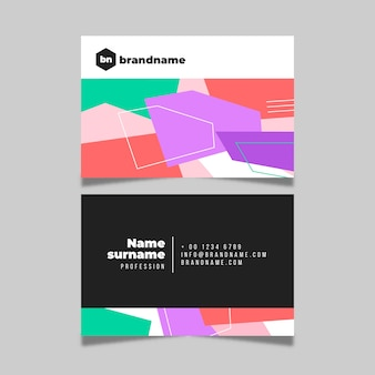 Abstract colorful visiting card template