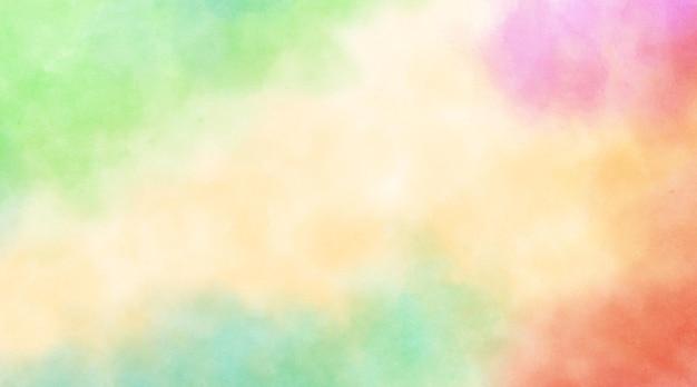 Webバナーとチラシの抽象的なカラフルな水彩画の背景