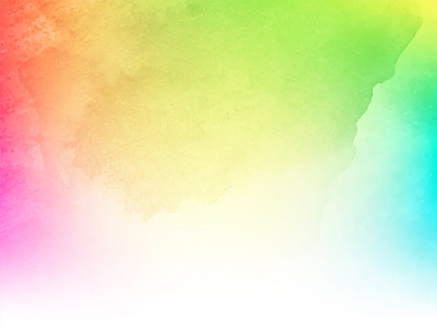 Abstract colorful watercolor design texture background
