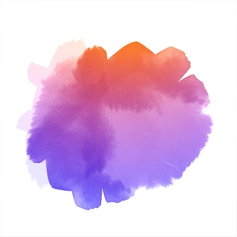Abstract colorful watercolor hand drawn splash design