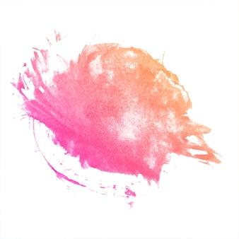 Spruzzata disegnata a mano dell'acquerello colorato astratto