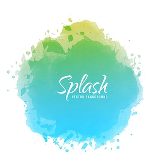 Abstract colorful watercolor ink splash design