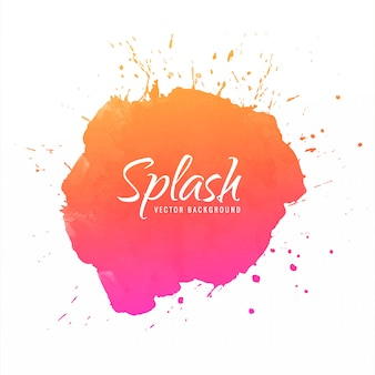 Abstract colorful watercolor ink splash