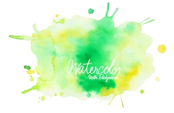 Abstract colorful watercolor on white background