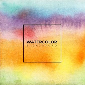 抽象的なカラフルな水彩オレンジ色の背景。手描きです。