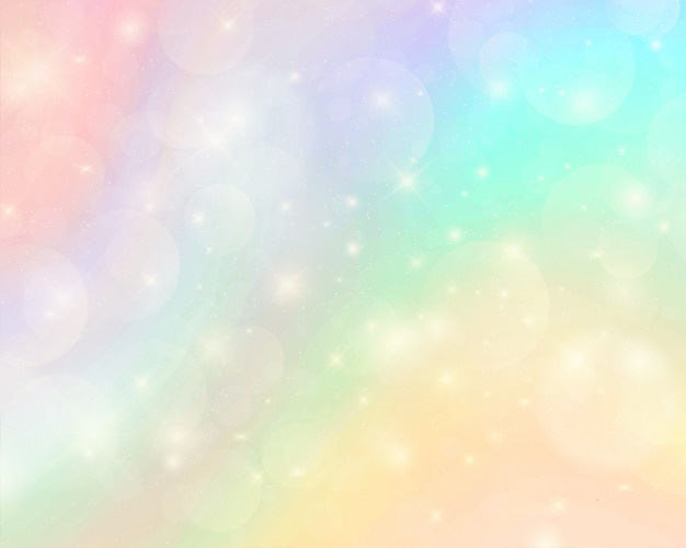 Abstract colorful watercolor rainbow background