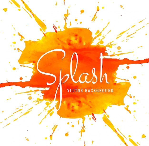 Abstract colorful watercolor splash background illustration