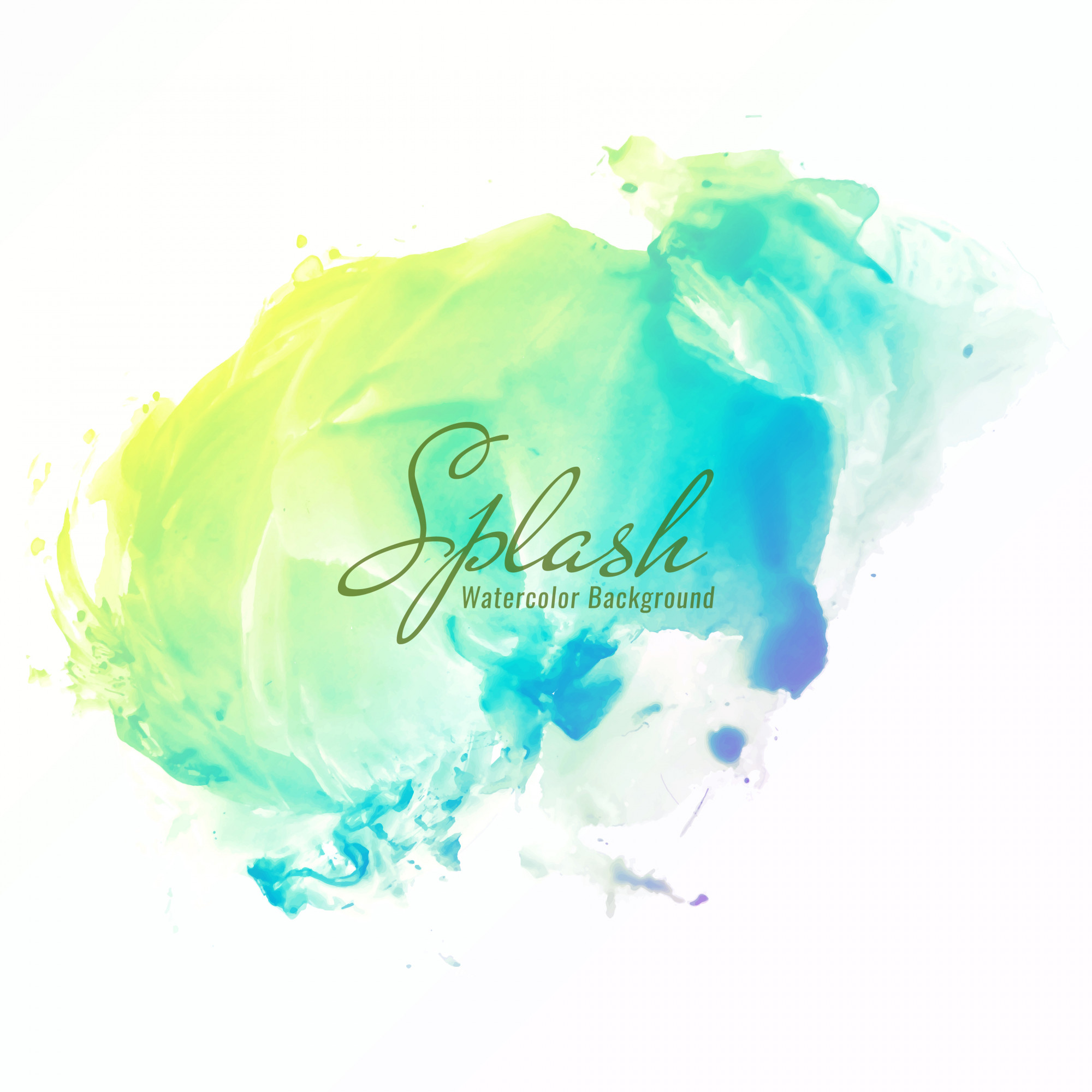 Abstract colorful watercolor splash design background