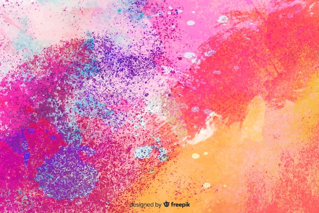Abstract colorful watercolor stain background