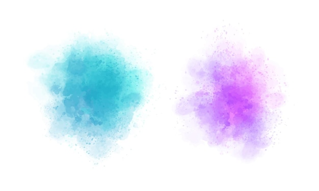 Abstract colorful watercolor stains