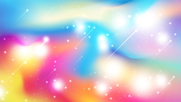 Abstract colorful watercolor style background with scattering glitter.