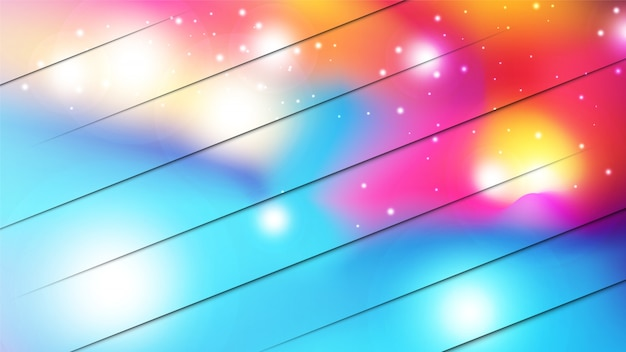 Abstract colorful watercolor style with scattering glitter