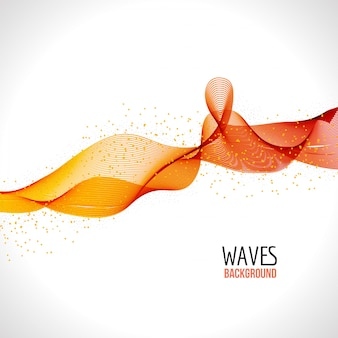 Abstract colorful wave background template