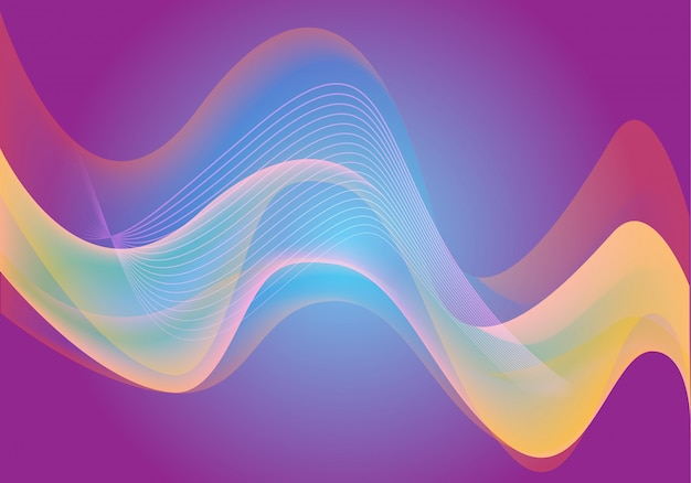 Abstract colorful wave background .